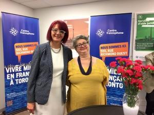Claire Francoeur, présidente du conseil d'administration du CFT et Lise Marie Baudry, directrice générale. (Crédit photo : Dominique Lelièvre)