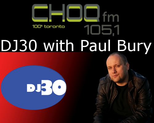 dj top 30 with Paul Bury